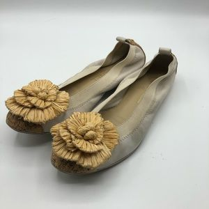 Chanel Ballerina Flats Bone Size 37 1/2 W/Box